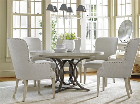 Bench Dining Room Table Set by Oyster Bay Calerton Round Dining Table Lexington Home Brands