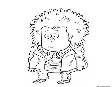 Printable Regular Show Mucle Man Coloring Pages | printable muscle man regular show coloring pagesfree