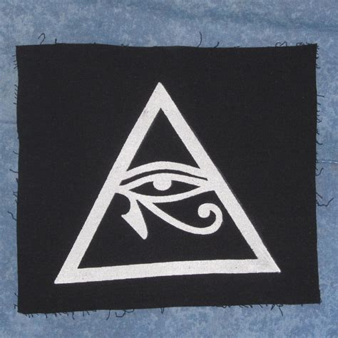 illuminati triangle illuminati symbol eye of horus in triangle patch large