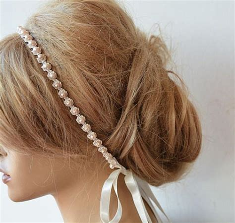 flower girl hair accessories wedding hair accessories wedding pearl headband pearl bridal headband for