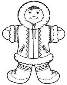 Eskimo  Cute Girl Coloring Page sketch template