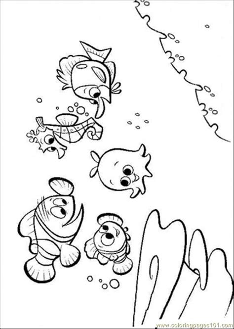 finding nemo coloring pages online coloring pages nemos friends cartoons gt finding nemo
