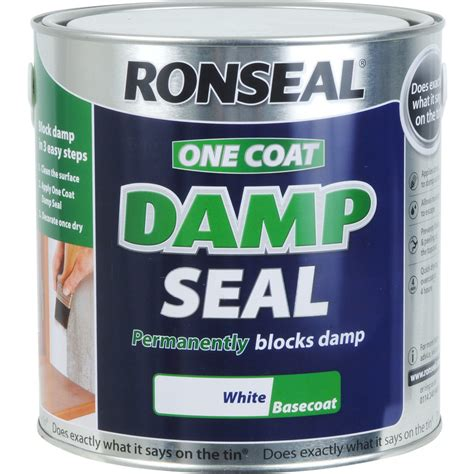 exterior d seal paint ronseal one coat d seal paint 2 5l white toolstation