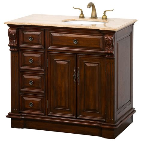 bathroom vanity with drawers on left side nottingham 38 quot traditional single bathroom vanity with