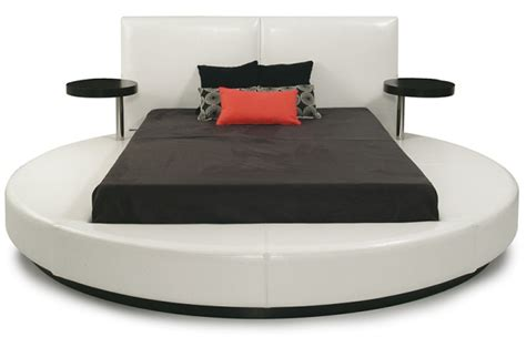 round white platform bed queen size