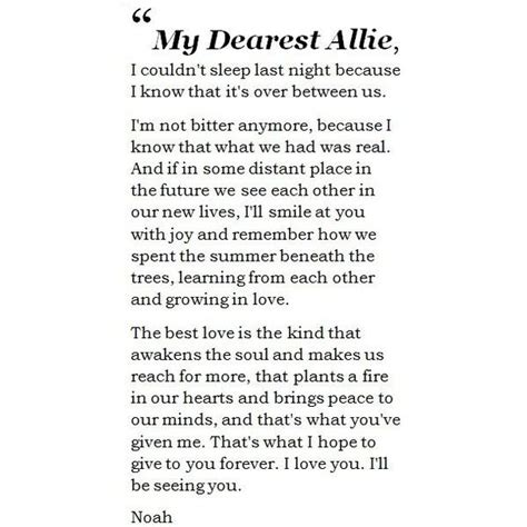 the last letter from your lover a novel 25 best the notebook quotes on