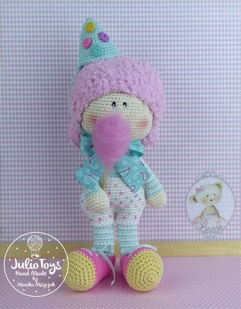 julio toys crochet patterns amigurumi 9 best images about clown alice crochet doll pdf pattern