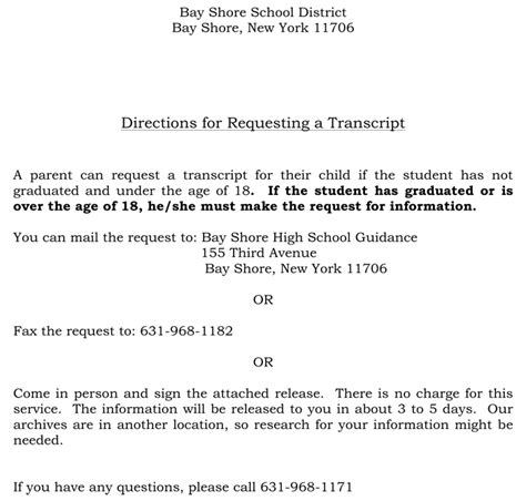 request letter for transcript from college 6 printable transcript request templates
