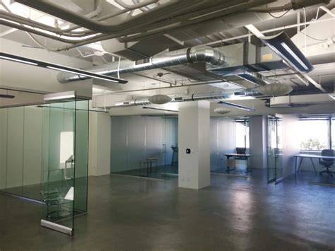 A couple limited industrial office spaces with exposed