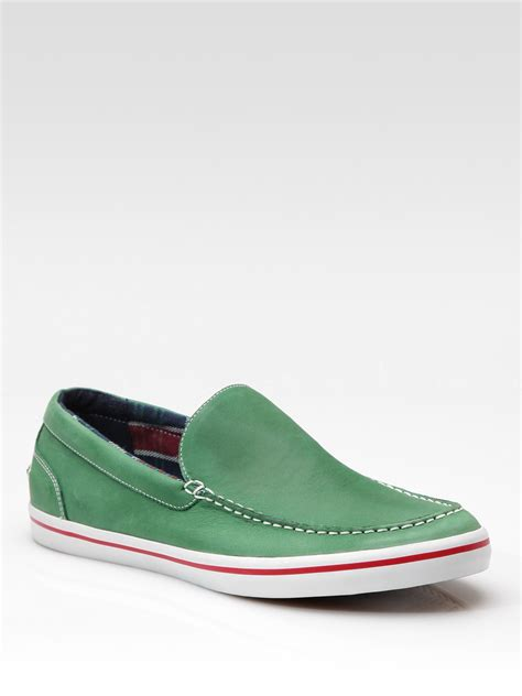 Coles Green Slip by Cole Haan Air Newport Slip Ons In Green For Lyst