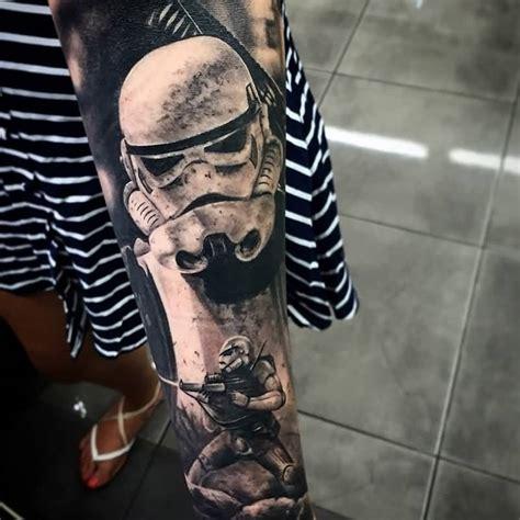 rebel scum stormtrooper tattoo  left thigh  paul hanford
