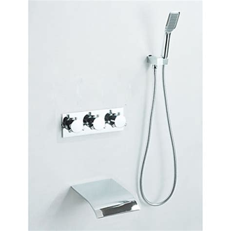 waterfall bathtub faucet wall mount chrome finish waterfall tub faucet with hand shower
