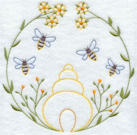 Pattern Bee Vintage Embroidery | machine embroidery designs at embroidery library color