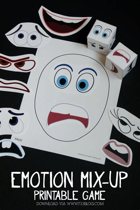 printable emotion games printable emotions mix up game seven thirty three
