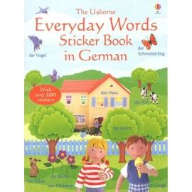 libro everyday words in spanish everyday words sticker book in german english wooks
