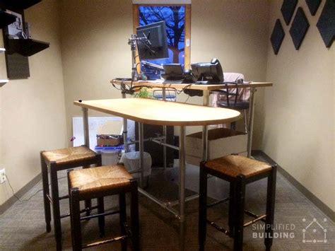 steel pipe standing desk 37 diy standing desks built with pipe and kee kl