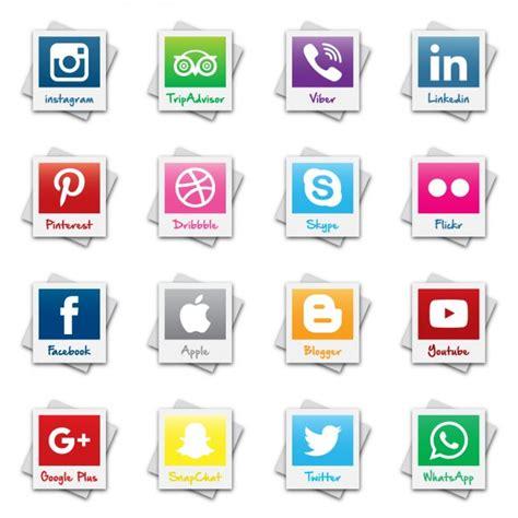 imagenes y nombres de redes sociales colecci 243 n del logotipo red social polaroid descargar