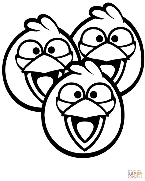 angry birds coloring pages blue birds coloring page free printable coloring pages