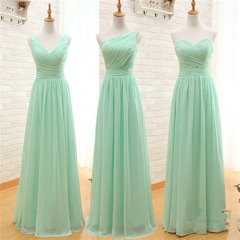 Mint Green Bridesmaid Dress by Special Bridesmaid Dresses Three Styles A Line Simple