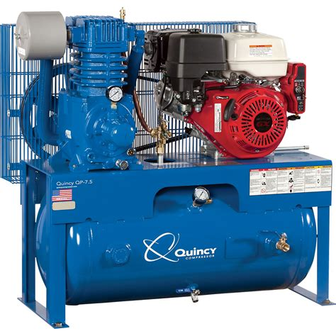 free shipping quincy qp 7 5 pressure lubricated reciprocating air compressor 13 hp honda