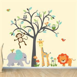 Safari Nursery Wall Decals Safari Wall Decal Nursery Wall Decal Jungle By Stickitdecaldesigns