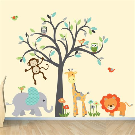 nursery safari wall decals safari wall decal nursery wall decal jungle by