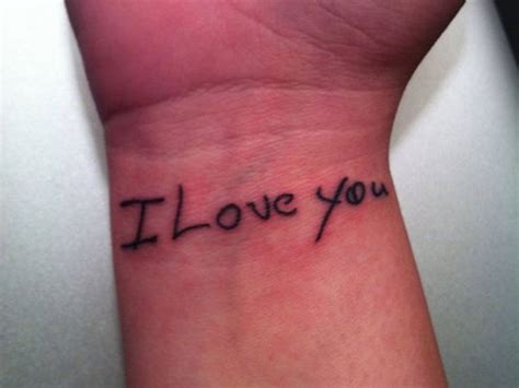 classy wrist tattoos 25 i you wrist tattoos