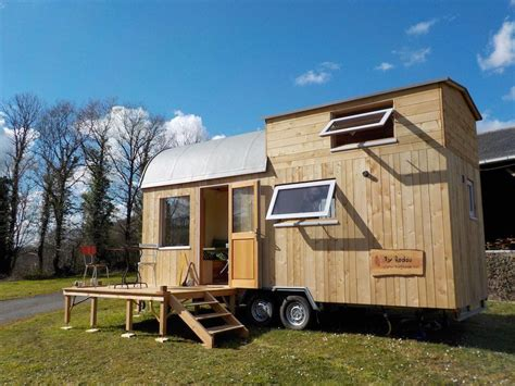 tiny house france an owner built tiny house on wheels in landeleau brittany