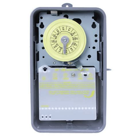 intermatic t104r timer switch 24 hour gray dpst