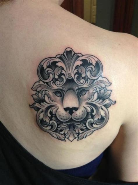 girly lion tattoos girly tat new school