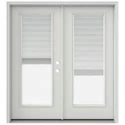 Jeld Wen Patio Doors With Blinds Jeld Wen 72 In X 80 In Primed Prehung Left Inswing Patio Door With Brickmould And