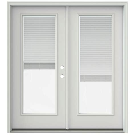 Jeld Wen Doors With Built In Blinds jeld wen 72 in x 80 in primed prehung right inswing patio door with brickmould and