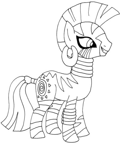 my little pony coloring pages zecora my little pony zecora coloring page free printable