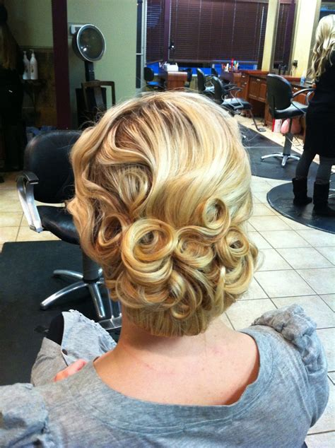 Pin Curls Updo Hairstyles by Pin Curl Updo On Pentecostal Hairstyles