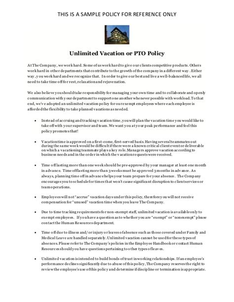 california privacy policy template unlimited vacation policy pto policy sle for