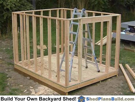 build  backyard storage shed   pictures