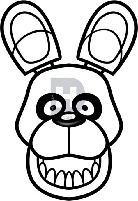 doodle drawing guide bonnie coloring pages f naf as mlp coloring page