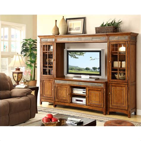 riverside furniture promenade tv entertainment center in