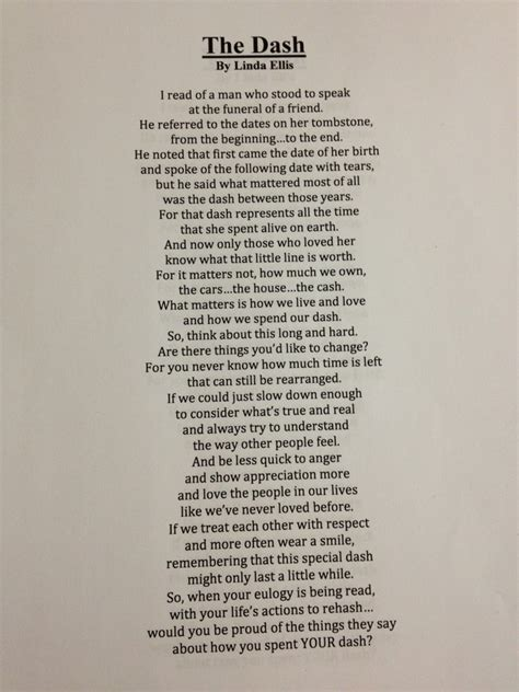 Funeral Home Design Decor by Dash Poem Printable