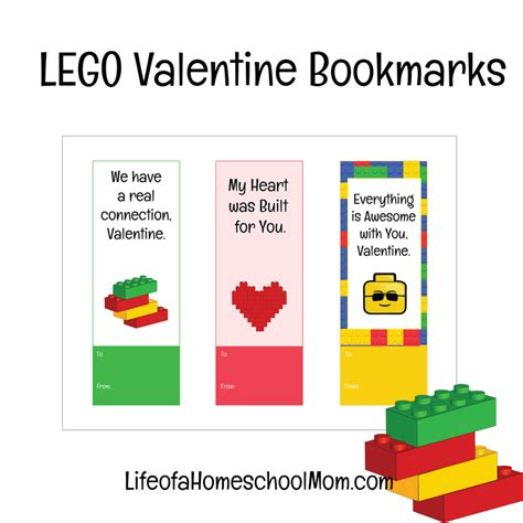 printable lego bookmarks free printable lego valentine bookmarks money saving mom 174