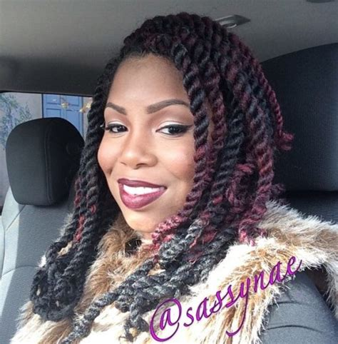 medium length kinky twist 40 chic twist hairstyles for natural hair