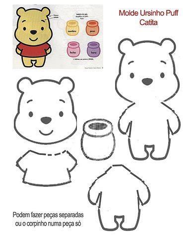 winnie the pooh templates felt tutorial pooh tutorial intro pattern uie craft
