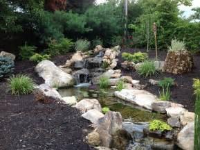 backyard landscape waterfalls streams near lexington