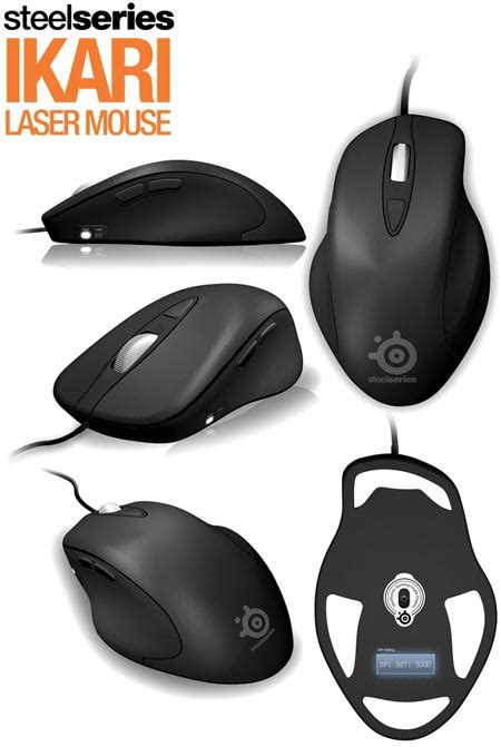 Mouse Steelseries Ikari steelseries ikari laser 5 button wired usb gaming mouse