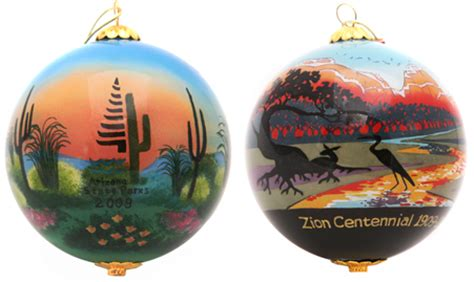 national park christmas ornaments customized ornaments calligraphy state parks corporate
