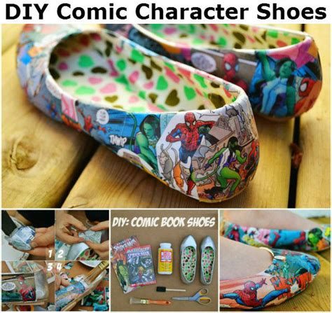 diy comic shoes diy comic character shoes diy crafts and ideas