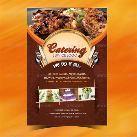 catering card template catering menu template flyer by owdesigns graphicriver
