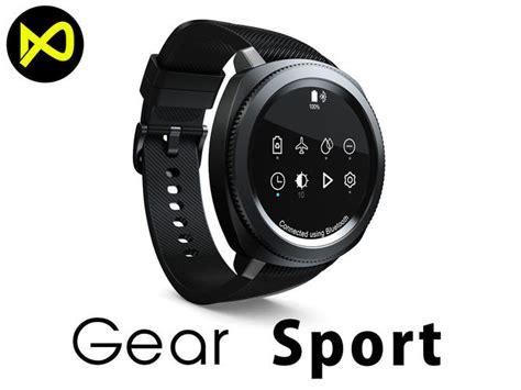 Smartwatch Samsung Gear Sport 3d model samsung gear sport smartwatch black cgtrader