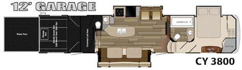 cyclone toy hauler floor plans used 2014 heartland cyclone 3800 for sale 12724a