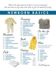 basic needs for a new home newborn basics registry checklist house mix